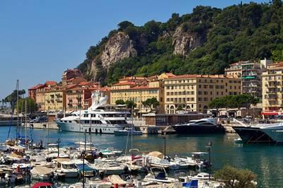 Port in Nice, France